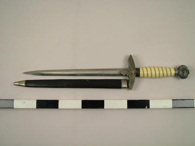 Knife Or Dagger With Nazi Emblem And Sheath