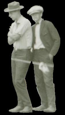 Two men standing