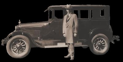 Man in front of Automobile 1