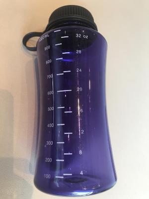 Water Bottle, Purple, Plastic