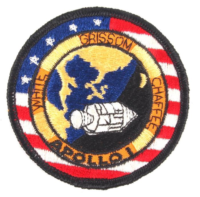 Patch, Apollo I, Chaffee, Grissom, White, Space Program;Patch, Apollo I, Chaffee, Grissom, White, Space Program