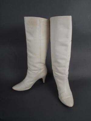 Pair White Boots