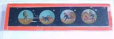 Magic Lantern Slide, Colored Scenes Of Man And Dog