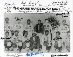 Photograph, Autographed, 1950 Grand Rapids Black Sox Black Baseball Team