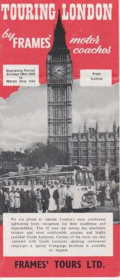 Pamphlet, Touring London - Map And Information