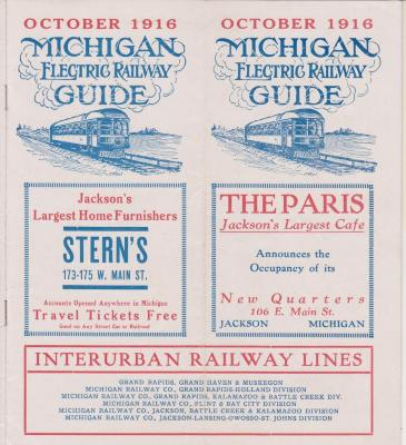 Time Table And Map, For Michigan Electric Railway