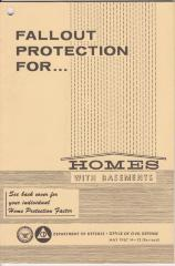 Booklet, Fallout Protection For Homes With Basements