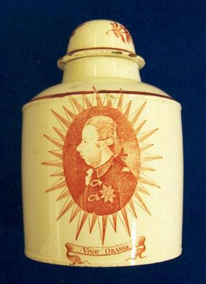Tea Caddy With Lid, 'long Live The House Of Orange'