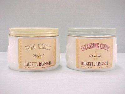 Daggett & Ramsdell Cold Cream And Cleansing Cream, 2 Jars