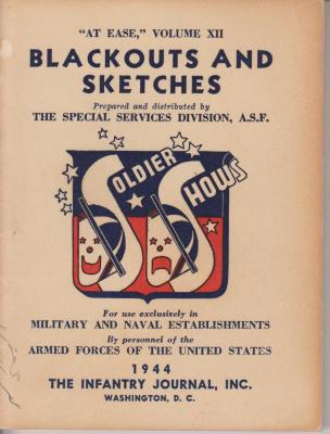 Booklet, 'blackouts And Sketches'