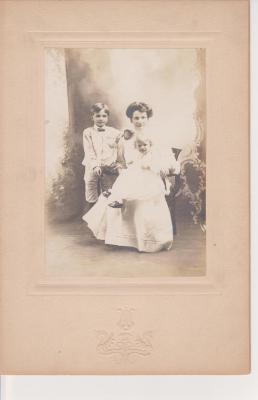 Photograph, Mrs. Theron W. Hammond and Children