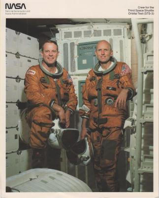 Photograph of third Space Shuttle crew