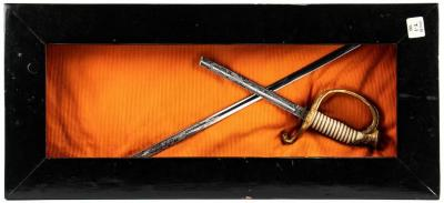 Sword (broken In 2 Pcs.) In Black Wooden Box, Roger B. Chaffee Archive Collection #6