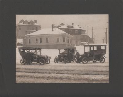 Photograph, three automobiles