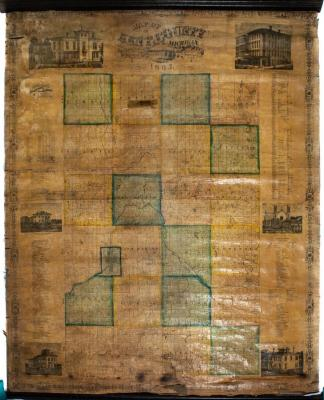 Map, 'plan Of The City Of Grand Rapids, Mich. Compiled From  Official Records And Special Surveys.'