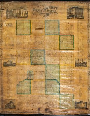 Map, Kent County, Michigan