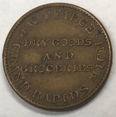 Token, J. W. Pierce Dry Goods & Groceries