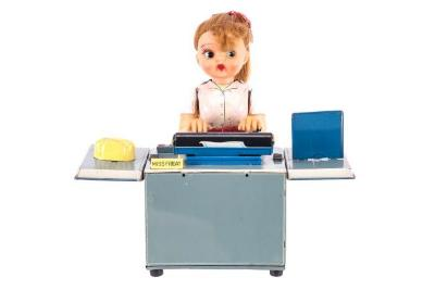 Miss Friday the Typist Mechanical Toy