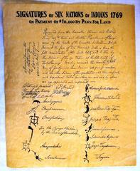 Document, Copy, Signatures Of Six Nations Of Indians...