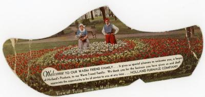 Reproduction Of Blotter, By Holland Furnace Company View Of Tulip Time In Holland, Mich.