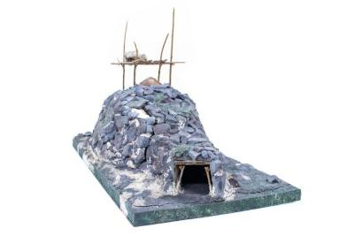 Model, Alaskan Native Underground House