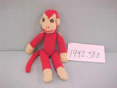 Hand-knitted Monkey Doll