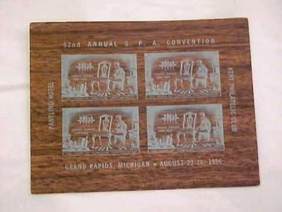 Grand Rapids Furniture Plate Block Souvenir, Kent Philatelic Club