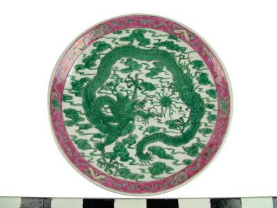 Plate, Dragon Design