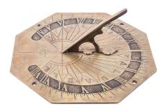 Sundial, Hexagonal With Words,  Time Is Valuable