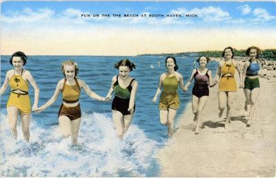 Postcard, South Haven Beach