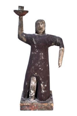 Ottawa Female Figure Candlestick .4, Creche Or Nativity Piece