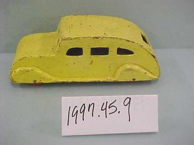 Wooden Yellow Toy Car