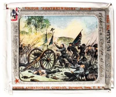 Lantern Slide, Pickett's Charge at Gettysburg