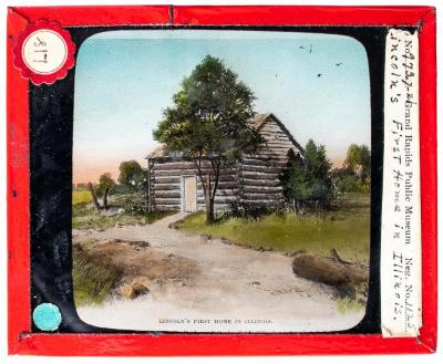 Lantern Slide, Lincoln's First Home in Illinois