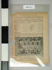 1 Page, Spalding's Official Base Ball Guide, 1919, Grand Rapids Colored Athletics Team, Negro Baseball Leagues Archival Collection #113