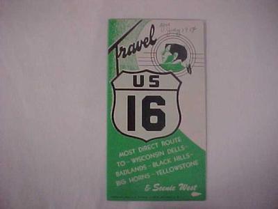 Travel Brochure, U.S. Highway 16