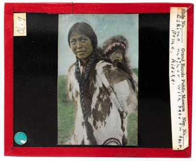 Lantern Slide, Inuit Mother