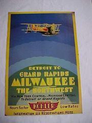 Kohler Airlines Reproduction Poster