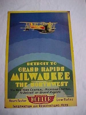 Kohler Airlines Reproduction Poster