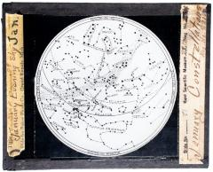 Lantern Slide, January Constellations