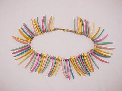 Pastel Wood Necklace