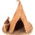 Souvenir Models (7), Including 3 Tepees And 4 Canoes