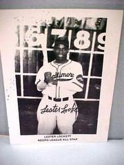 Photograph, B&w, Reprint, Autographed, Lester Lockett, Negro League All-star, Negro Baseball Leagues Archival Collection #113