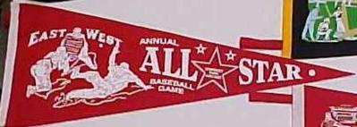 Pennant, Reproduction, Negro League, East-west All Stars, Negro Baseball Leagues Archival Collection #113