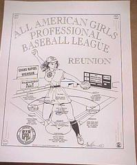 Poster, All-american Girls Professional Baseball League Reunion, All-american Girls Baseball League Archival Collection #66