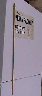 Flag And Pole, Annual Indian Pageant Ottowa [sic] Stadium, Harbor Springs