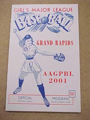 Program, 2001 Reunion Of Aagpbl, All-american Girls Baseball League Archival Collection #66