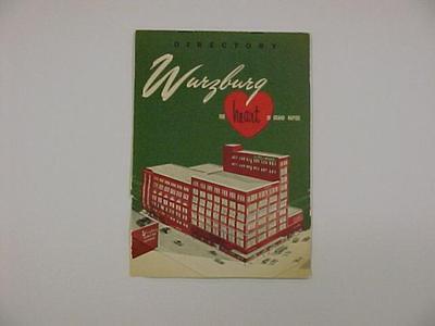 Directory. Wurzburg Department Store Directory, Circa 1947