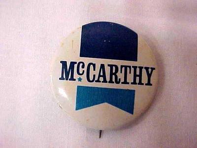 Political Campaign Button - Mccarthy