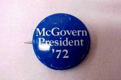 Political Campaign Button  - Mcgovern President' 72